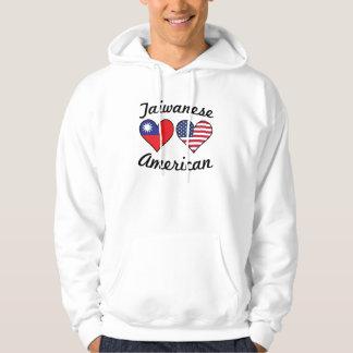 Taiwanese American Flag Hearts Hoodie