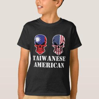 Taiwanese American Flag Skulls T-Shirt