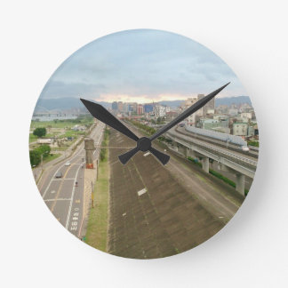 Taiwanese City and Landscape Round Clock