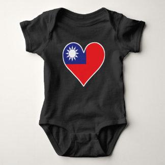 Taiwanese Flag Heart Baby Bodysuit