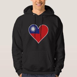 Taiwanese Flag Heart Hoodie