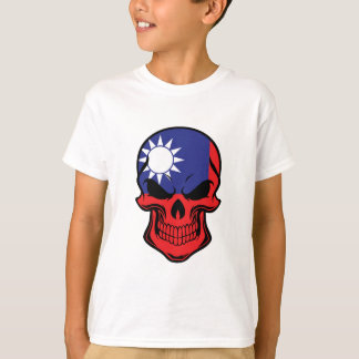Taiwanese Flag Skull T-Shirt