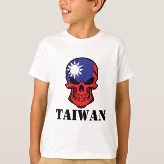 Taiwanese Flag Skull Taiwan T-Shirt