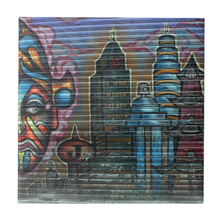 Taiwanese graffiti, Taipei, Taiwan Tile