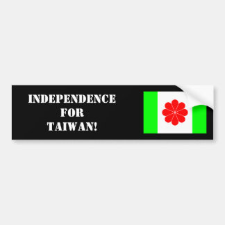 Taiwanese Independence Bumper Sticker 2