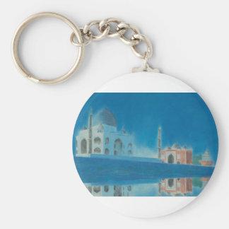 Taj. Basic Round Button Keychain