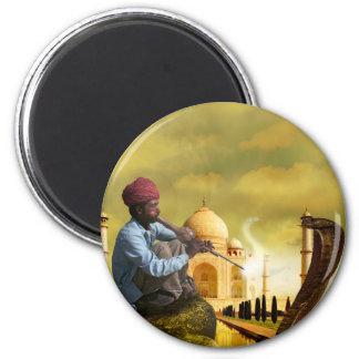 Taj Mahal 2 Inch Round Magnet