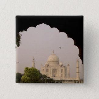 Taj Mahal, Agra, Uttar Pradesh, India 2 2 Inch Square Button