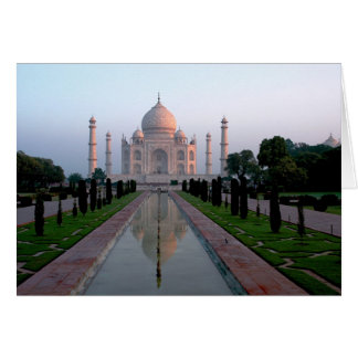 Taj Mahal at daybreak Card