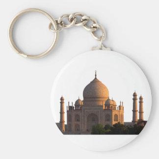Taj Mahal Basic Round Button Keychain