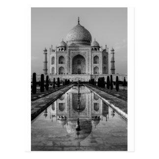 Taj Mahal BW Postcard