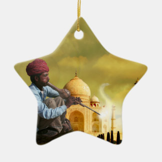 Taj Mahal Ceramic Star Ornament