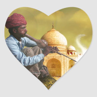 Taj Mahal Heart Sticker