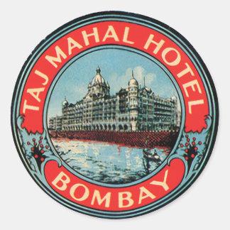 Taj Mahal Hotel Bombay Round Sticker