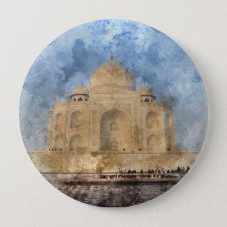Taj Mahal in Agra India 4 Inch Round Button