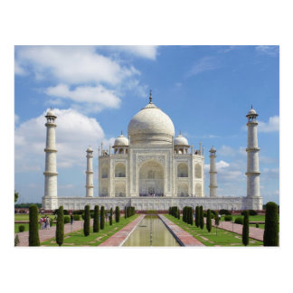 Taj Mahal in Agra India 7 Wonders of the World Postcard