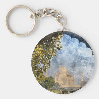 Taj Mahal in Agra India Basic Round Button Keychain