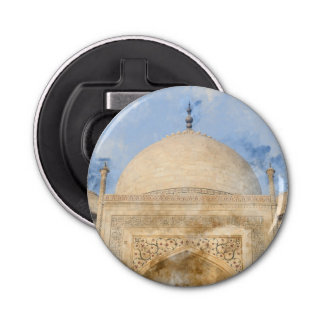 Taj Mahal in Agra India Bottle Opener