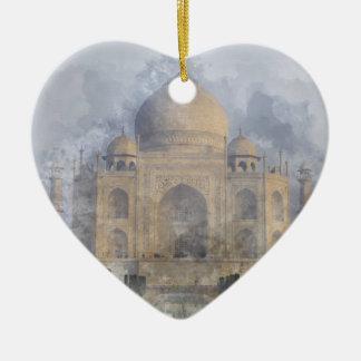 Taj Mahal in Agra India Ceramic Ornament