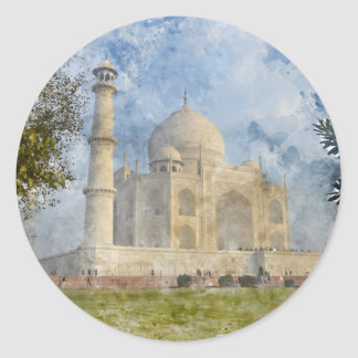 Taj Mahal in Agra India Classic Round Sticker