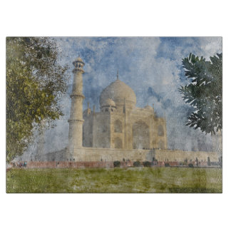 Taj Mahal in Agra India - Digital Art Watercolor Boards
