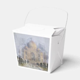 Taj Mahal in Agra India - Digital Art Watercolor Favor Boxes