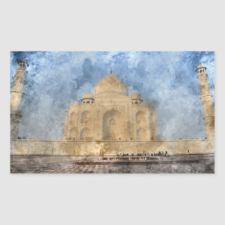 Taj Mahal in Agra India - Digital Art Watercolor Sticker