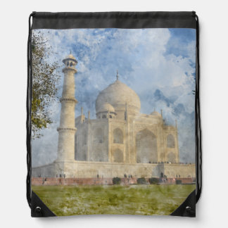 Taj Mahal in Agra India Drawstring Bag