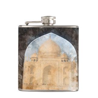 Taj Mahal in Agra India Flasks