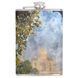 Taj Mahal in Agra India Hip Flask