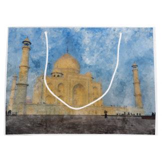 Taj Mahal in Agra India Large Gift Bag