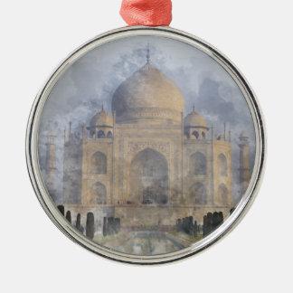 Taj Mahal in Agra India Metal Ornament