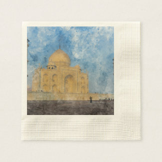 Taj Mahal in Agra India Paper Napkin