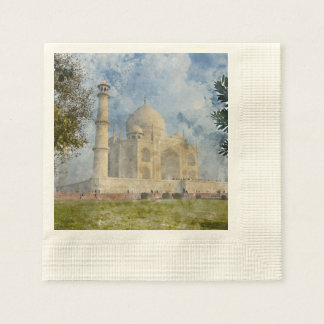 Taj Mahal in Agra India Paper Napkins