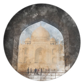 Taj Mahal in Agra India Plate