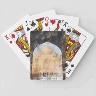 Taj Mahal in Agra India Playing Cards
