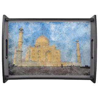 Taj Mahal in Agra India Serving Tray