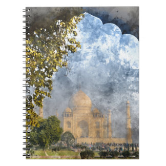 Taj Mahal in Agra India Spiral Notebooks