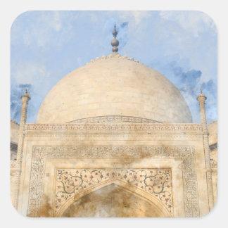 Taj Mahal in Agra India Square Sticker