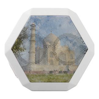 Taj Mahal in Agra India White Bluetooth Speaker