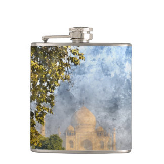 Taj Mahal in India Flasks