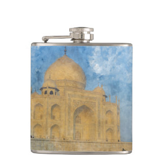 Taj Mahal in India Hip Flask