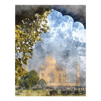 Taj Mahal in India Letterhead