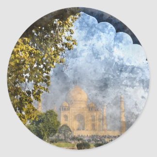 Taj Mahal in India Round Sticker