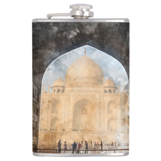 Taj Mahal in the Morning Flask