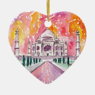 Taj Mahal India Ceramic Ornament