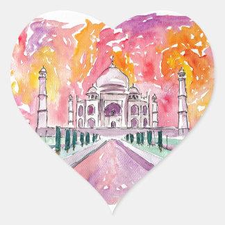 Taj Mahal India Heart Sticker