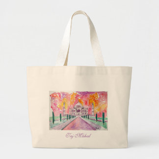 Taj Mahal India Large Tote Bag