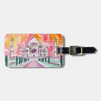 Taj Mahal India Luggage Tag