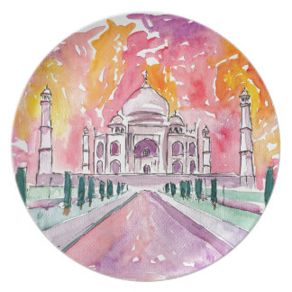 Taj Mahal India Plate